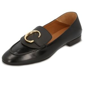 Chloe C Leather Fold Down Loafers